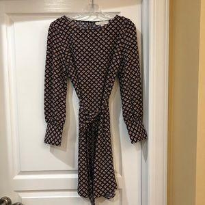 LOFT DRESS NAVY/FLORAL PRINT SIZE M NWT!